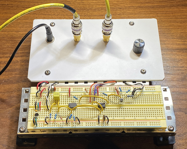 two comparator effect panel and board