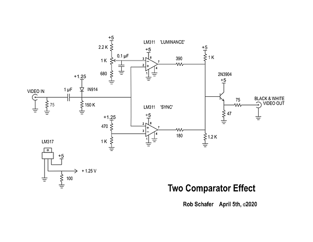 Two Comparator Effect Tom's schematic